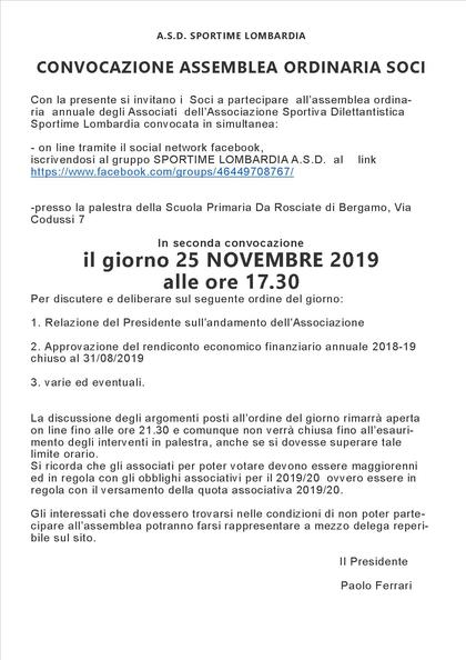 ASSEMBLEA DE SOCI 2019