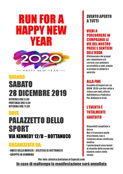 RUN FOR A HAPPY NEW YEAR 2020