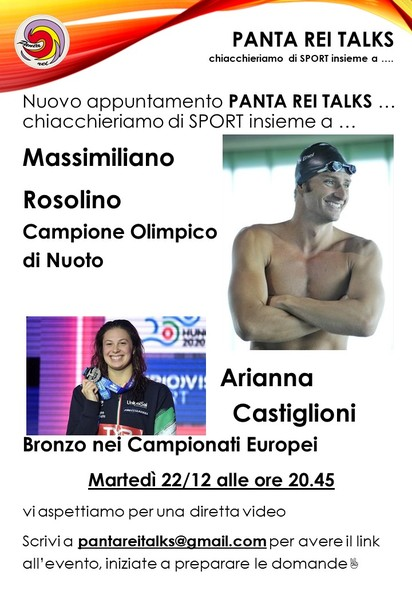 Panta Rei Talks ... Ospite Rosolino e Castiglioni