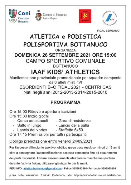 IAAF KIDS BOTTANUCO 2021