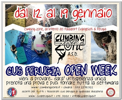 CUS PERUGIA OPEN WEEK