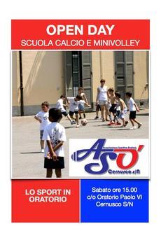 Open day scuola calcio e minivolley