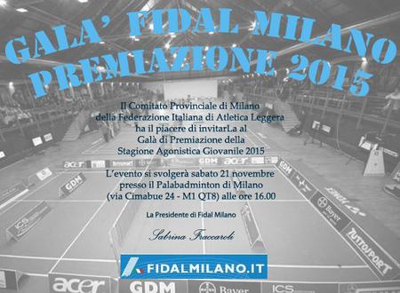 PREMIAZIONI FIDAL MILANO 2015