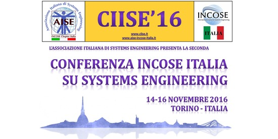 Conferenza INCOSE Italia su Systems Engineering (CIISE'16)