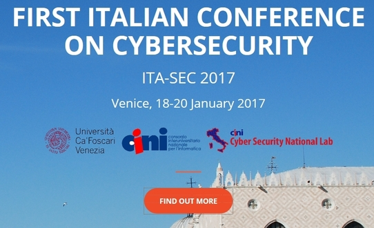 ITA-SEC 2017 the First Italian Conference on Cybersecurity