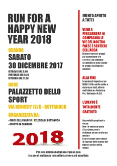 RUN FOR A HAPPY NEW YEAR 2018