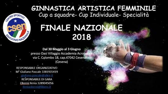 Campionato nazionale CSEN GAF Specialità e Cup