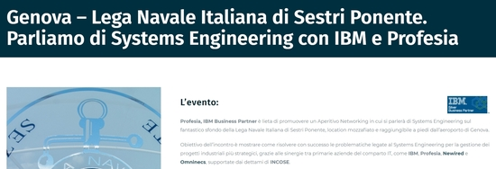 Aperitivo Networking sul Systems Engineering