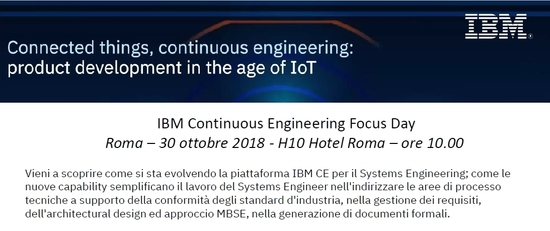 IBM Continuous Engineering Focus Day