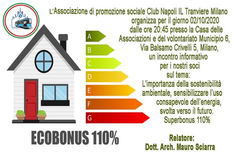 Serata informativa sulle normative dell'ecobonus 110%