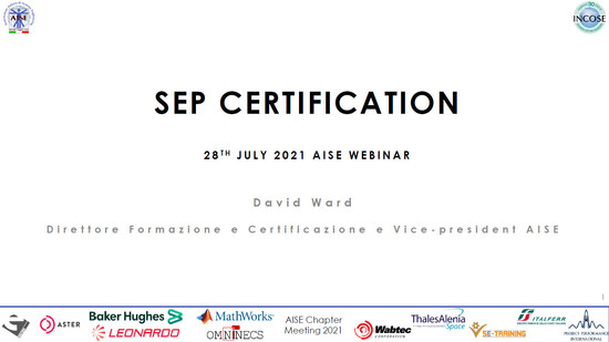 Caffe' con AISE - SEP Certification…