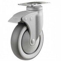 100DP4TPRSWB Synthetic Non-Marking On Plastic Bracket - Swivel Braked