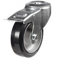 100DRBH12EABJSWB 100mm Black Elastic on Aluminium Centre - Bolt Hole Braked
