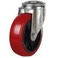 100DRBH12PNRB 100mm Medium Duty Polyurethane On Bl...