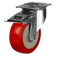 100DRH4PNBJSWB 100mm Polyurethane On Nylon Centre Braked Castor