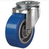 100DRHBH12EPABJ 100mm Heavy Duty Polyurethane On Aluminium Centre Bolt Hole Castor