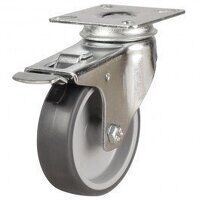 100DRL4TPRSWB 100mm Synthetic Non-Marking on Plastic Centre - Swivel Braked