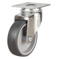 100DRL4TPR 100mm Synthetic Non-Marking on Plastic Centre - Swivel