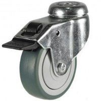 100GDBH10GRGSWB 100mm Synthetic Non-Marking on Plastic Centre - Bolt Hole Braked