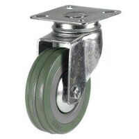 100DRL4GRG 100mm Grey Rubber Non-Marking Castor - Swivel