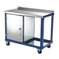 Tool Trolley - Single Cupboard with Cast...