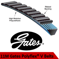 11M1250 Polyflex PU V Belt (Please enquire for pro...