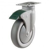 125DP4TPRDL Synthetic Non-Marking On Plastic Bracket - Swivel Directional Lock