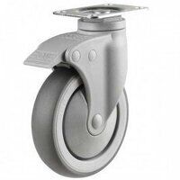 125DP4TPRSWB Synthetic Non-Marking On Plastic Bracket - Swivel Braked