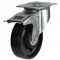 125DR4CIBJSWBLP 125mm Cast Iron Wheel Castor - Bra...