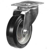 125DR4EABJLP 125mm  Black Elastic on Aluminium Centre - Swivel