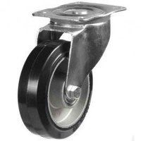 125DR4EABJ 125mm  Black Elastic on Aluminium Centre - Swivel