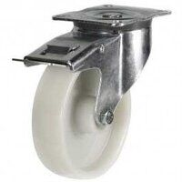 125DR4NYSWB 125mm Nylon Castor - Swivel Braked