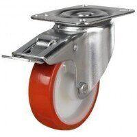 125DR4PNOSWBLP 125mm Polyurethane Tyre Nylon Centr...
