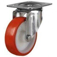 125DR4PNO 125mm Polyurethane Tyre Nylon Centre - Swivel