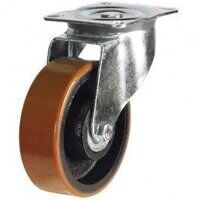 125DR4PTBJ 125mm Polyurethane Tyre on Cast Iron - Swivel