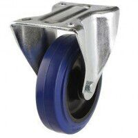 125DR8BNBLP 125mm Blue Elastic Rubber on Nylon Centre - Fixed