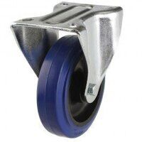 125DR8BNB 125mm Blue Elastic Rubber on Nylon Centre - Fixed
