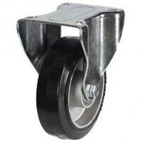 125DR8EABJLP 125mm Black Elastic on Aluminium Centre - Fixed