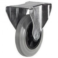 125DR8GRB 125mm Grey Rubber Tyre Plastic Centre - Fixed