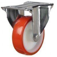 125DR8PNOLP 125mm Polyurethane Tyre Nylon Centre - Fixed