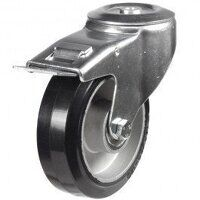 125DRBH12EABJSWB 125mm Black Elastic on Aluminium Centre - Bolt Hole Braked
