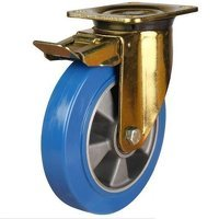 125DRH4EPABJSWB 125mm Heavy Duty Polyurethane On Aluminium Centre Braked Castor