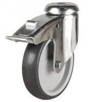 125LWABH12TPRSWB 125mm Synthetic Non-Marking on Plastic Centre - Bolt Hole Braked