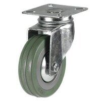 125DRL4GRG 125mm Grey Rubber Non-Marking Castor - Swivel