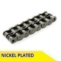 12B2-NP 3/4inch Pitch Roller Chain 5 Meter Box - Nickel Plated (Dunlop)