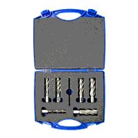 14mm - 24mm HSS Factory Bright Long Series Annular Cutter Set