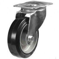 160DR4EABJ 160mm Black Elastic on Aluminium Centre - Swivel