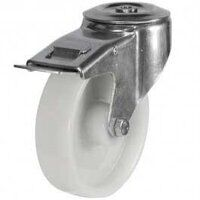 160DRBH12NYSWB 160mm Nylon Castor - Bolt Hole Brak...
