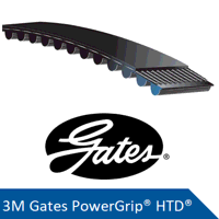165-3M-9 Gates PowerGrip HTD Timing Belt (Ple...