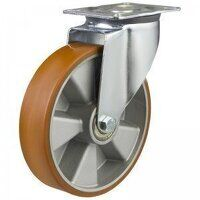 200DR4PTABJ 200mm Medium Duty Polyurethane On Aluminium Centre Swivel Castor